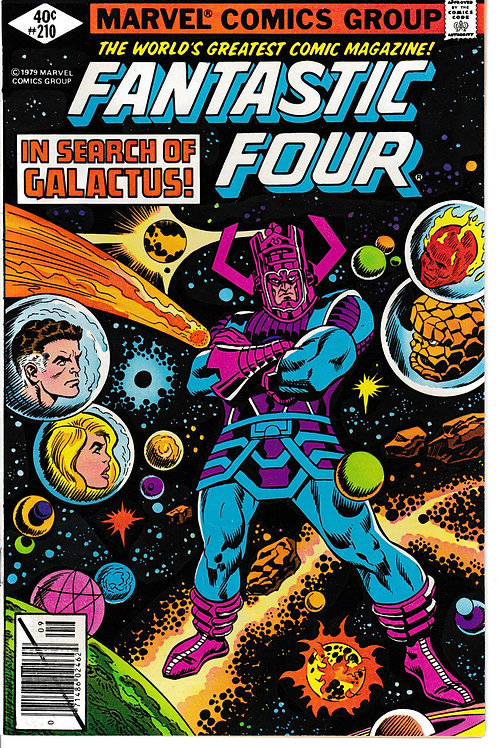 FANTASTIC FOUR 210 Sept 79 Galactus Appearance John Byrne Layouts