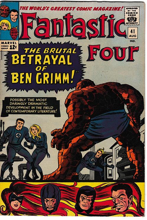 FANTASTIC FOUR 41 Aug 65 Marvel Vol 1 Frightful Four Appearance