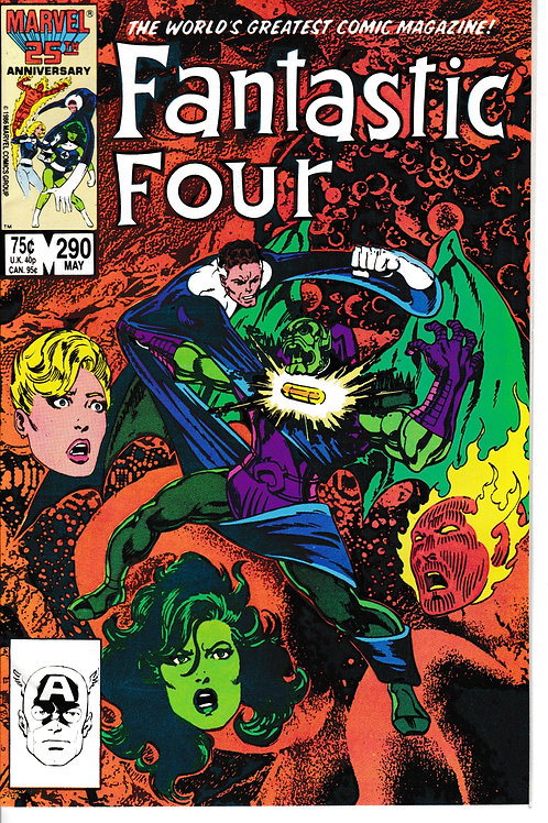 FANTASTIC FOUR 290 May 86 Nick Fury Annihilus Blastaar Appearance