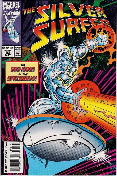 Silver Surfer 92 Inc Marvel Madterprints Card