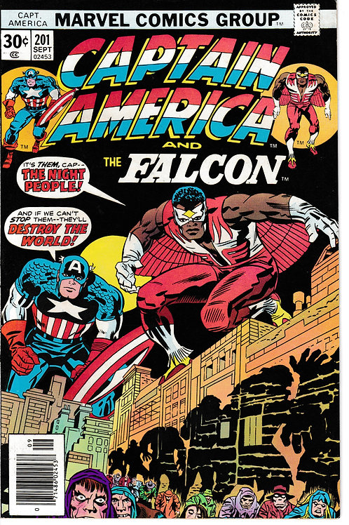 CAPTAIN AMERICA 201 Sept 76 Marvel Jack Kirby Writer The Night People
