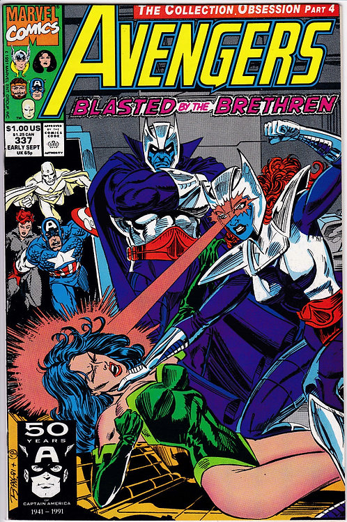 AVENGERS 337 Marvel Vol 1 Sep 91 Cameo App Nick Fury Watcher