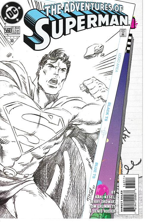 Adventures of Superman 560 DC Aug 98 Last $1.95 cover price