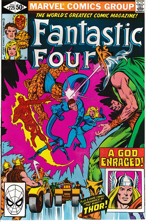 FANTASTIC FOUR 225 Dec 80 Thor & Odin Appearance