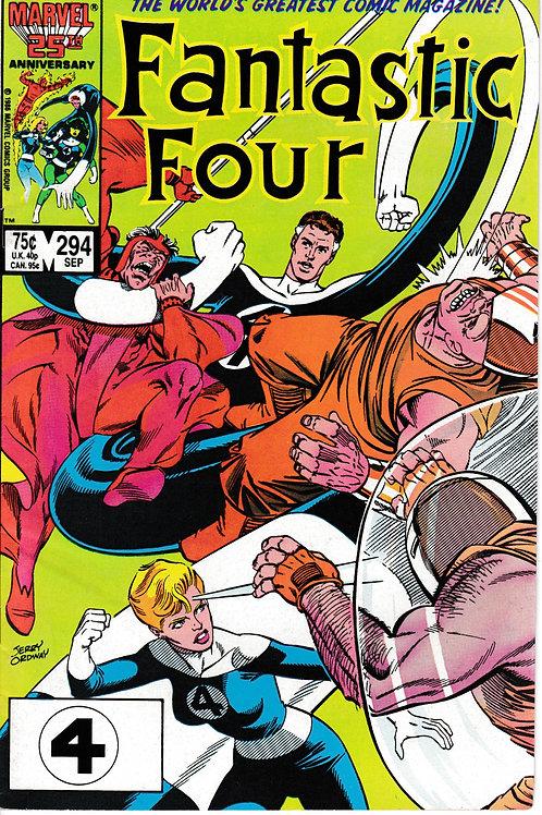 FANTASTIC FOUR 294 Sept 86 John Byrne Story West Coast Avengers cameo