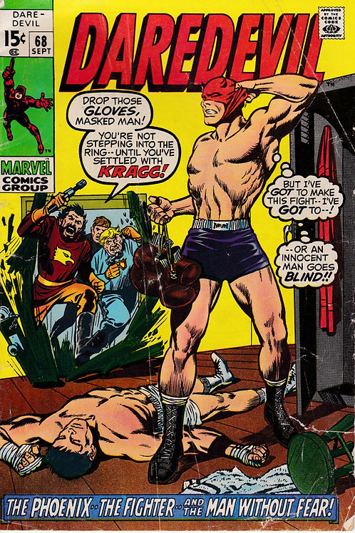 DAREDEVIL 68 Sept 70 VG- Phoenix and the Fighter