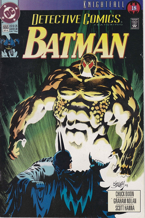 DETECTIVE 666 DC Sep 93  Knightfall Pt 18 Bane Cover Story