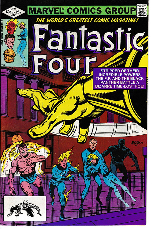 FANTASTIC FOUR 241 Apr 82 John Byrne Black Panther Appearance