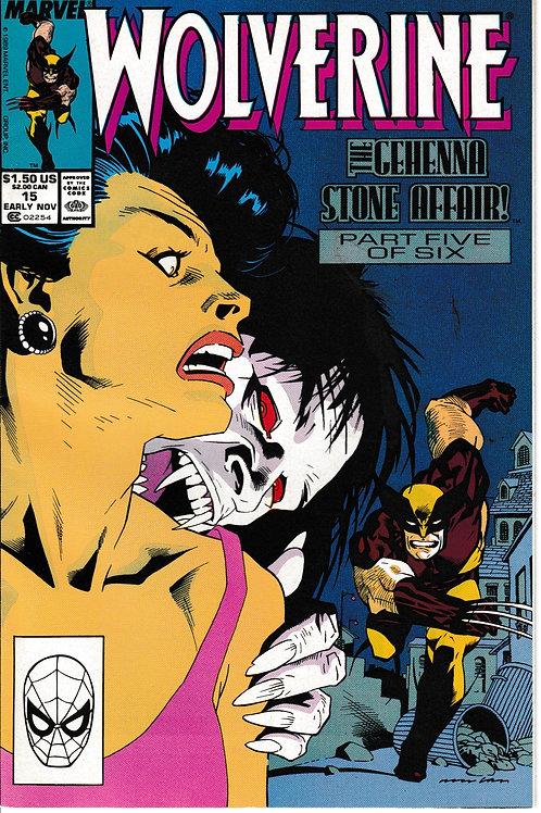 WOLVERINE 15 Marvel Nov 89 Peter David John Buscema Bill Sienkiewicz