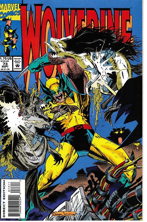 WOLVERINE 73 Marvel Sep 93 Guest Stars Jubilee