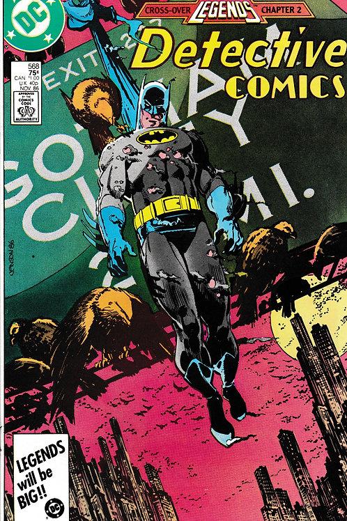 DETECTIVE 568 DC Nov 86 Legends Crossover 2