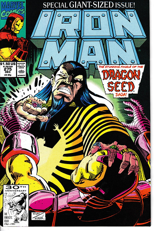 IRON MAN 275 Dec 91 Dragon Seed Saga Pt 6 of 6