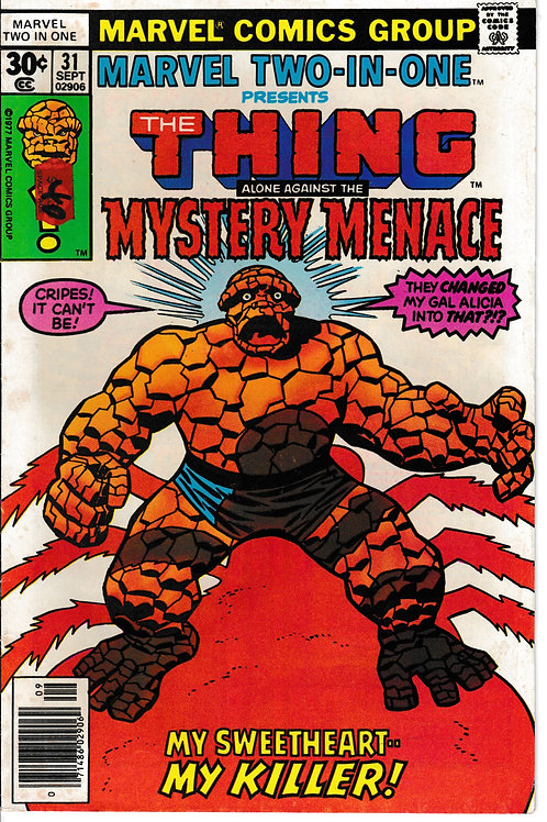 MARVEL TWO-IN-ONE 31Thing & Mystery Menace Nick Fury Cameo