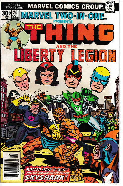 MARVEL TWO-IN-ONE 20 THE THING & Liberty Legion
