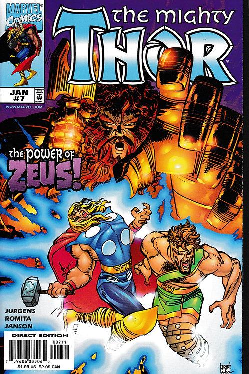 THOR 7 Vol 2 Marvel Jan 99  Guest-stars Hercules