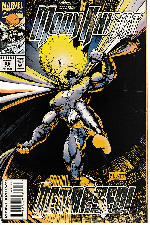Marc Spector Moon Knight 56 Vol 1 Nov 93 Platt Cover Art
