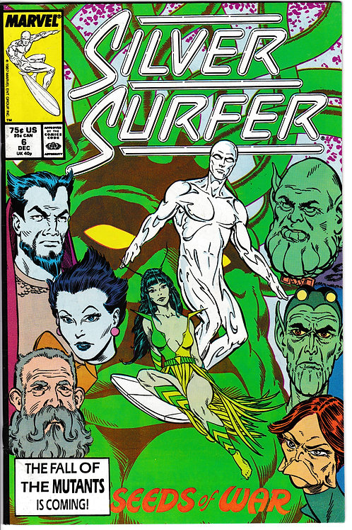 SILVER SURFER 6 Marvel Vol 3 Dec 87 Origin of the Oblitertor