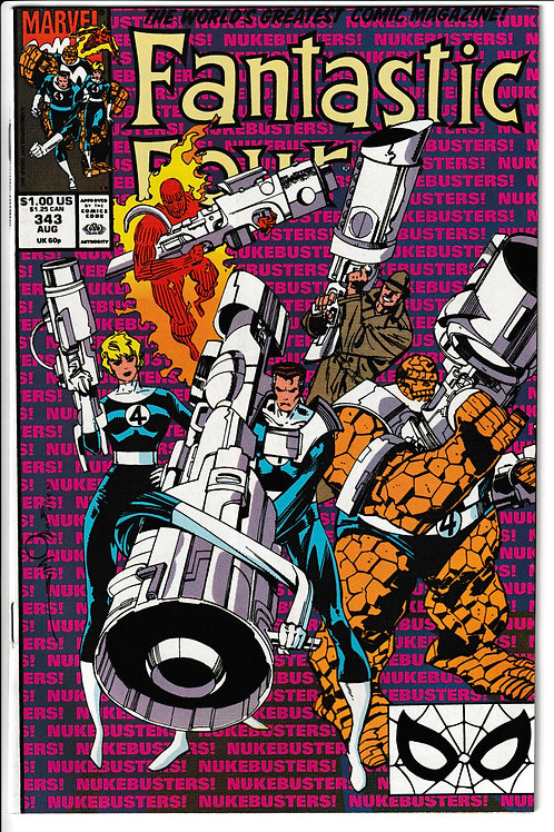 FANTASTIC FOUR 343 Aug 90 U.S President Dan Quale Appearance
