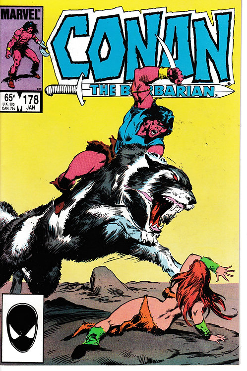 CONAN THE BARBARIAN 178 Jan 86 Marvel Powers of Nostume