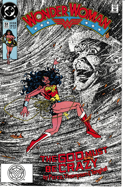WONDER WOMAN 51 Feb 91 DC 2nd Series Hermes fights Diana