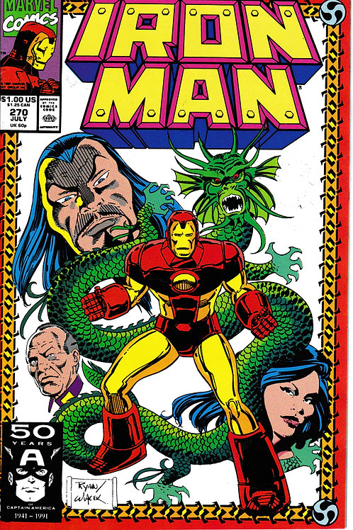 IRON MAN 270 Jul 91 Dragon Seed Saga Pt 1 John Byrne