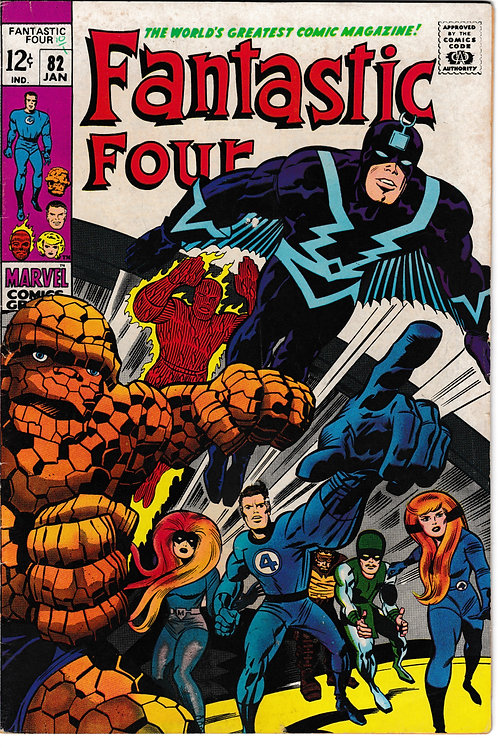 FANTASTIC FOUR 82 Jan 69 Marvel Vol 1 Black Bolt & Inhumans Appearance