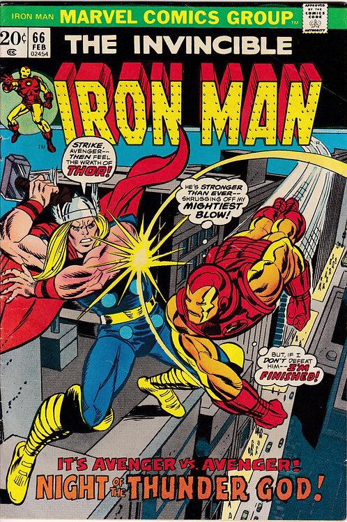 Iron Man 66 Feb 74 Iron Man verses Thor