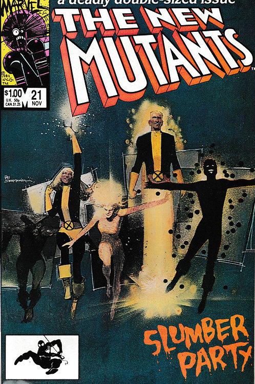 NEW MUTANTS 21 Marvel Nov 84 Origin New Warlock