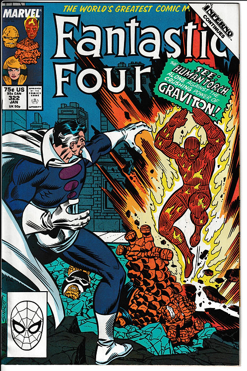 FANTASTIC FOUR 322 JNM- New Old Stock Never Read Inferno Crossover