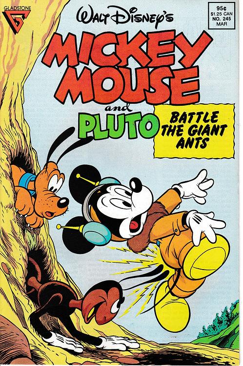 WALT DISNEY'S MICKEY MOUSE & PLUTO 245 Mar 89 Battle the Giant Ants