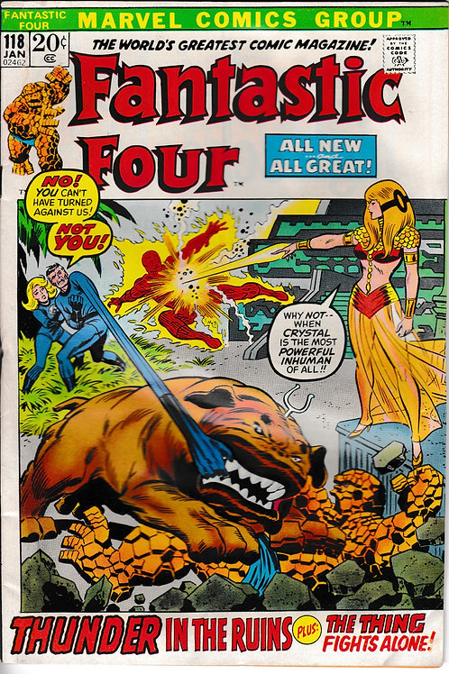 FANTASTIC FOUR 118 Jan 72 Marvel Vol 1 VG Diablo Appearance