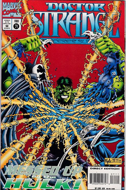 DOCTOR STRANGE SORCERER SUPREME 71 Marvel Dec 95 Incredible Hulk