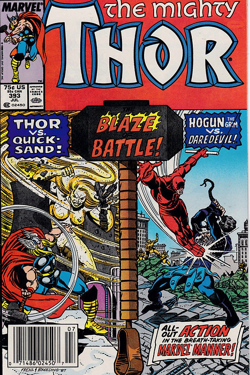 THOR 393 Jul 88 Daredevil Appearance