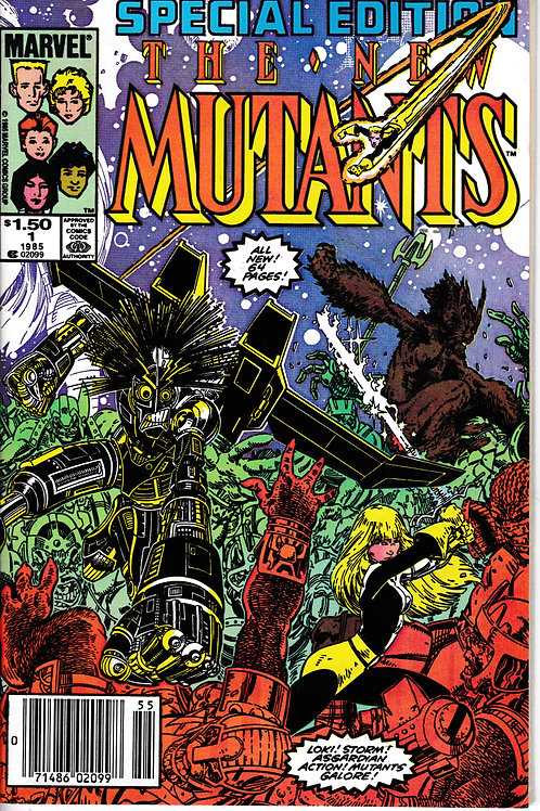 NEW MUTANTS SPECIAL EDITION 1 1985 Guest Stars Storm, Loki, Fandrall, Hogun, and