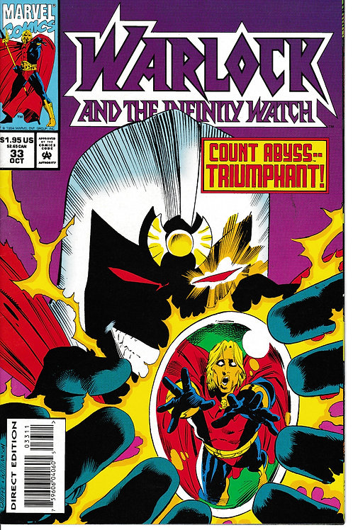 WARLOCK AND THE INFINITY WATCH 33 Marvel Sep 94 Verses Count Abyss