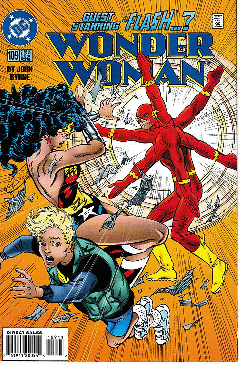 WONDER WOMAN 109 May 96 DC 2nd Series Level Part 1 of 4 Guest-stars Flash