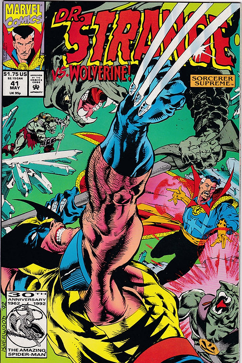 DOCTOR STRANGE SORCERER SUPREME 41 Marvel May 92  Vs Wolverine
