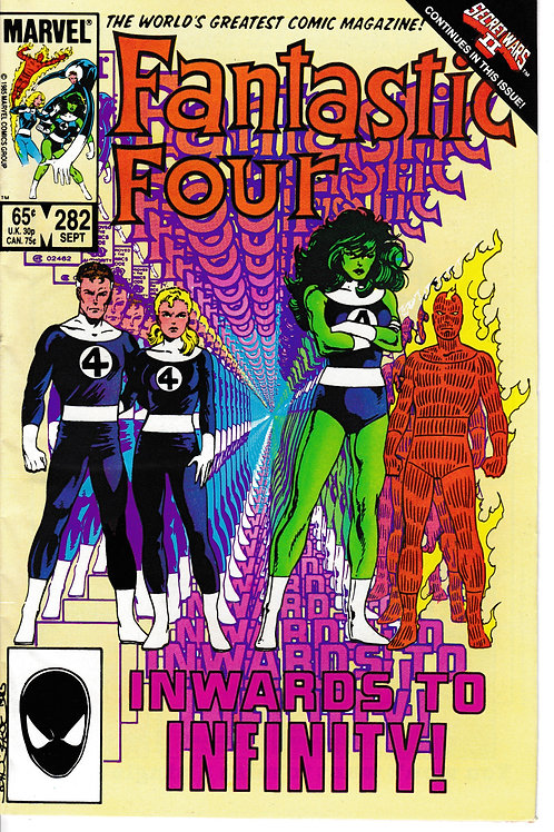 FANTASTIC FOUR 282 Sept 85 Power Pack Cameo Secret Wars 11