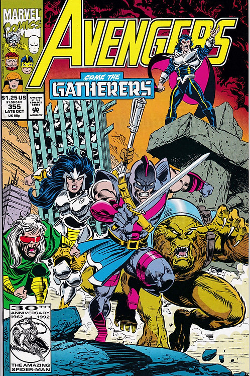 AVENGERS 355 Marvel Vol 1 Oct 92 Sprite & Taylor Madison Cameo App