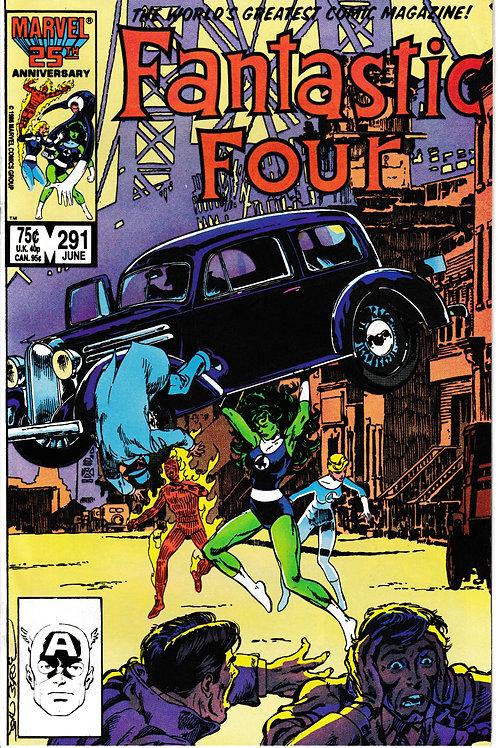 FANTASTIC FOUR 291 Jun 86 Nick Fury Appearance