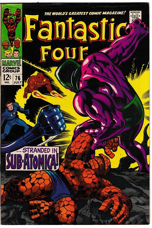 FANTASTIC FOUR 76 Jul 68 Marvel Vol 1 Silver Surfer Galactus Crystal App