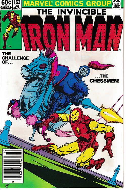 IRON MAN 163 Oct 82 1st Appearance (hand & voice only) of Obadiah Stane