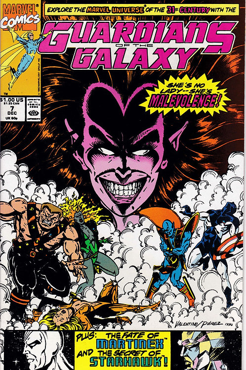 GUARDIANS OF THE GALAXY 7 Marvel Vol 1 Dec 90  Introducing Malevolence