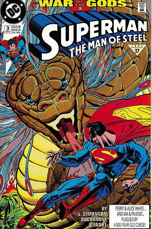 Superman The Man of Steel 3 DC Sept 91 War of the Gods 3