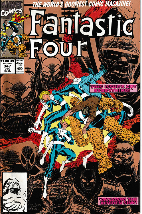 FANTASTIC FOUR 347 Dec 90 Gold 2nd Printing