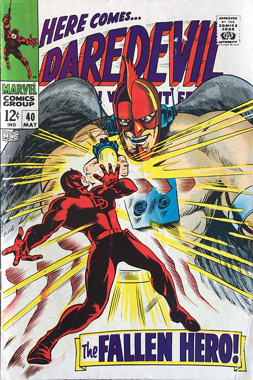 DAREDEVIL 40 May 68 Daredevil Verses Unholy Three
