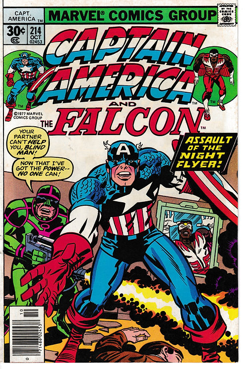 CAPTAIN AMERICA 214 Oct 77 Power Script & Pencils Jack Kirby