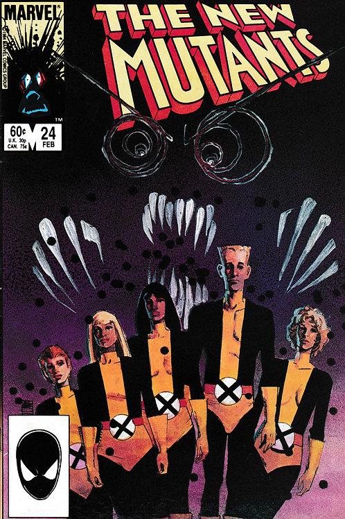 NEW MUTANTS 24 Marvel Feb 85 Cloak & Dagger App