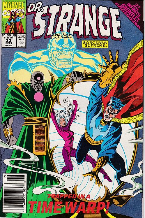 DOCTOR STRANGE SORCERER SUPREME 33 Marvel Sept 91 Infinity Gauntlet X-Over
