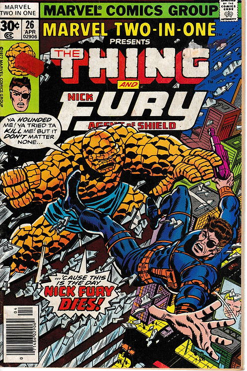 MARVEL TWO-IN-ONE 26 THE THING & NICK FURY